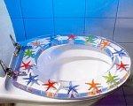 Fräsch och annorlunda toalettsits i passande havstema