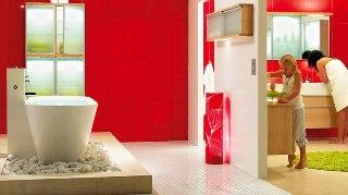 Badrummet kommer från Svedbergs och heter Indigo