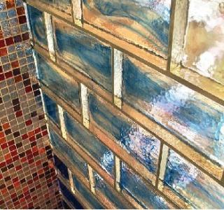 Glastegel och glasmosaik från Vetro