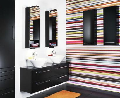 Björbo badrum i härliga vårfärger