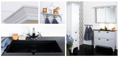 Möbelserie Saga från Björbo badrum