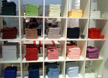 Bilden visar lite av D&J´s handduks sortiment
